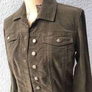 Chico's Washed Cord Cheyenne Jacket.
